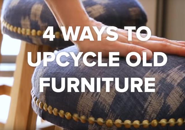 4 cách đơn giản tái chế đồ dùng nội thất cũ