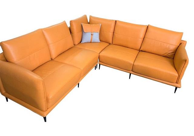 Cận Cảnh Sofa Da Góc Vuông L108 Alila