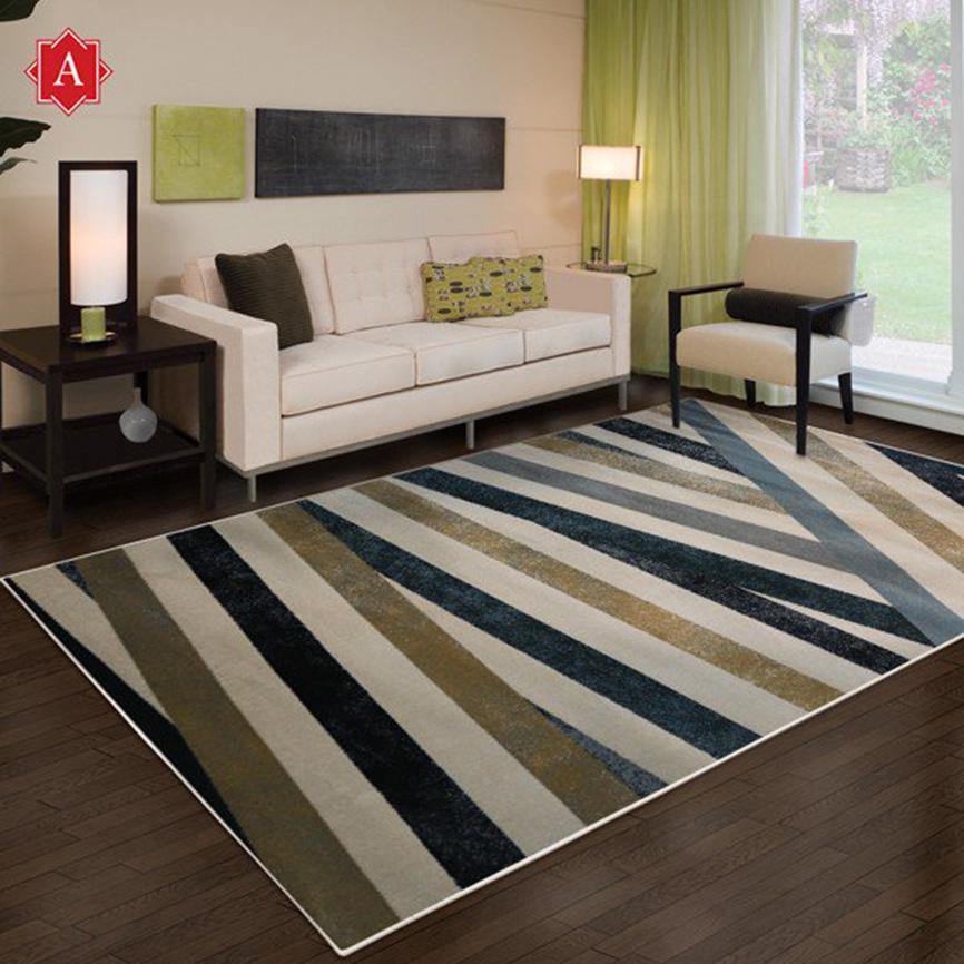 Chọn thảm trài sàn phù hợp với cách trang trí phòng khách đẹp của gia đình bạn