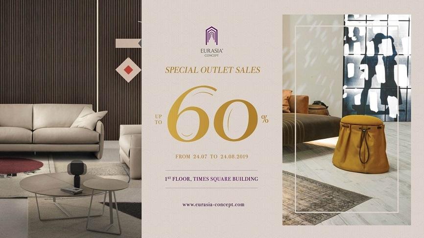 Eurasia Concept Special Outlet Sale ưu đãi lên đến 60%