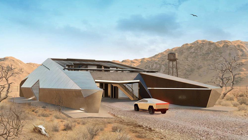 Những Ngôi Nhà Hiện Đại Lấy Cảm Hứng Từ Chiếc Xe Của Tương Lai Tesla Cybertruck