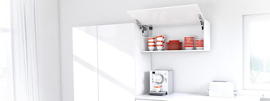 Giải pháp tủ treo tường cất bộ đồ ăn sang trọng và tiện nghi từ Blum