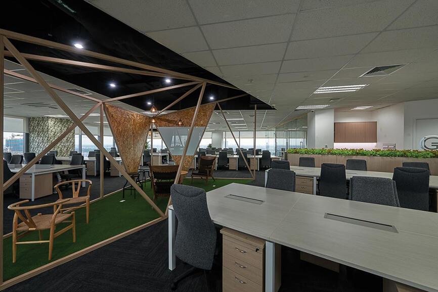 Đột nhập thiết kế nội thất văn phòng Grab