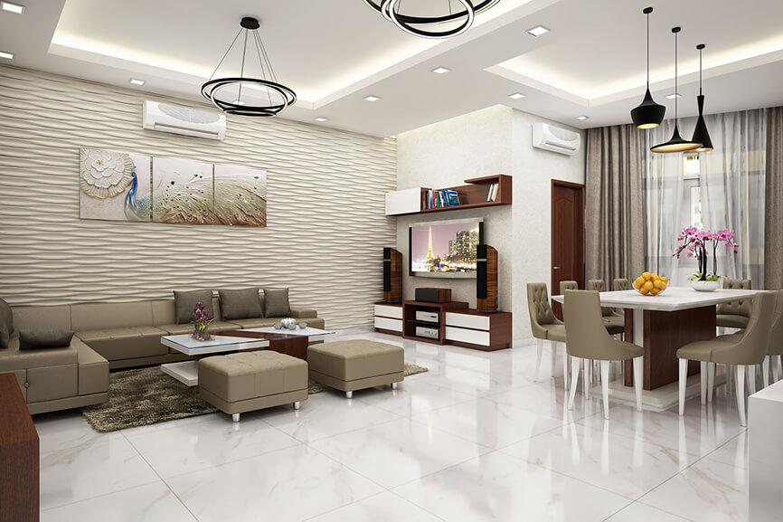 Những lưu ý để thiết kế phòng khách và phòng bếp liền kề đẹp mắt