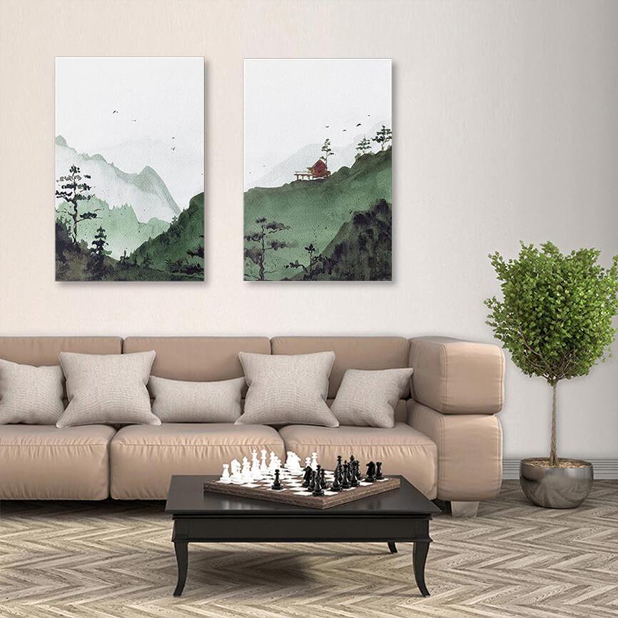 Tranh in Canvas - Vat dung trang tri phong khach dep